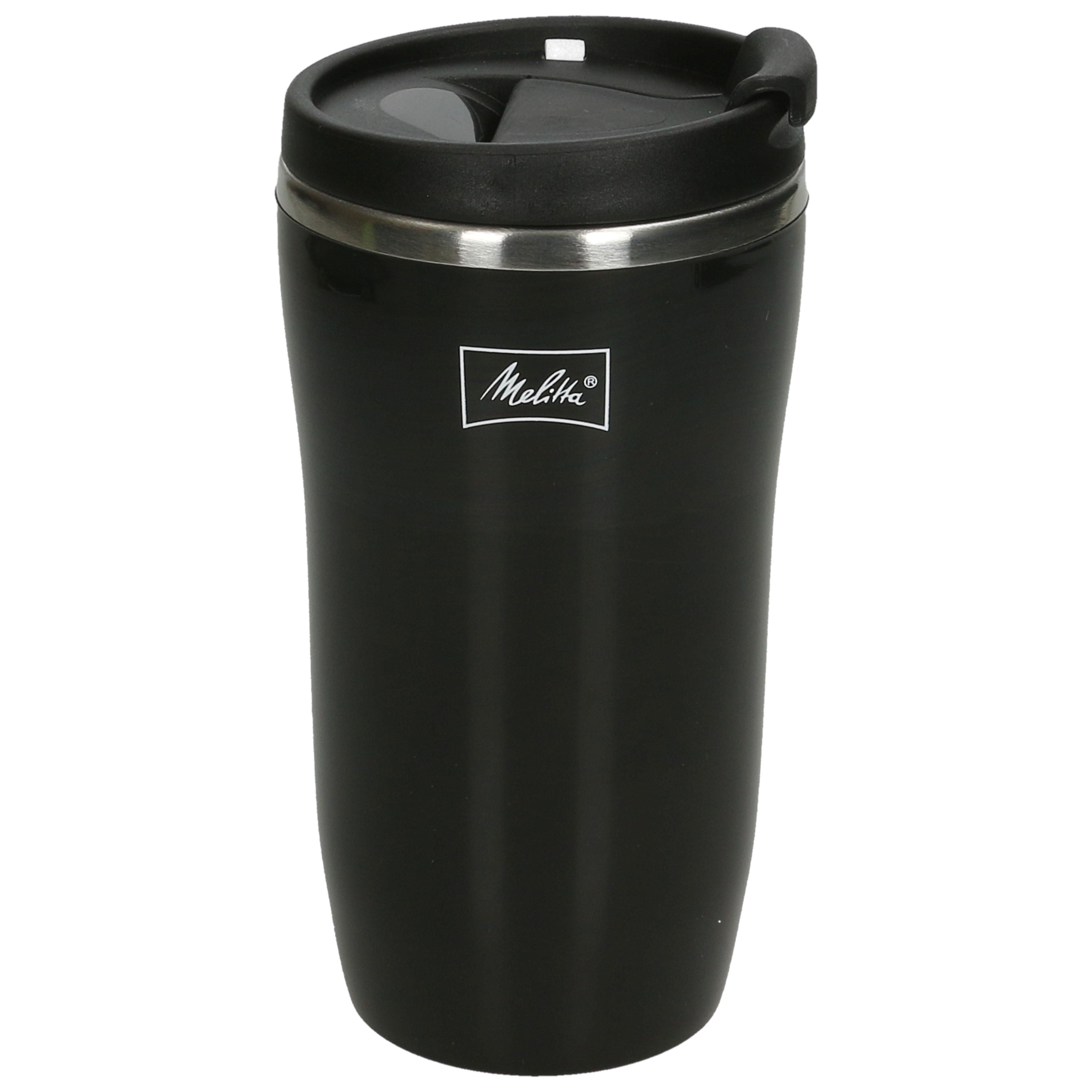 Details about Melitta 6758255 Thermal Coffee Travel Mug, Airtight Seal,  250ml, Black