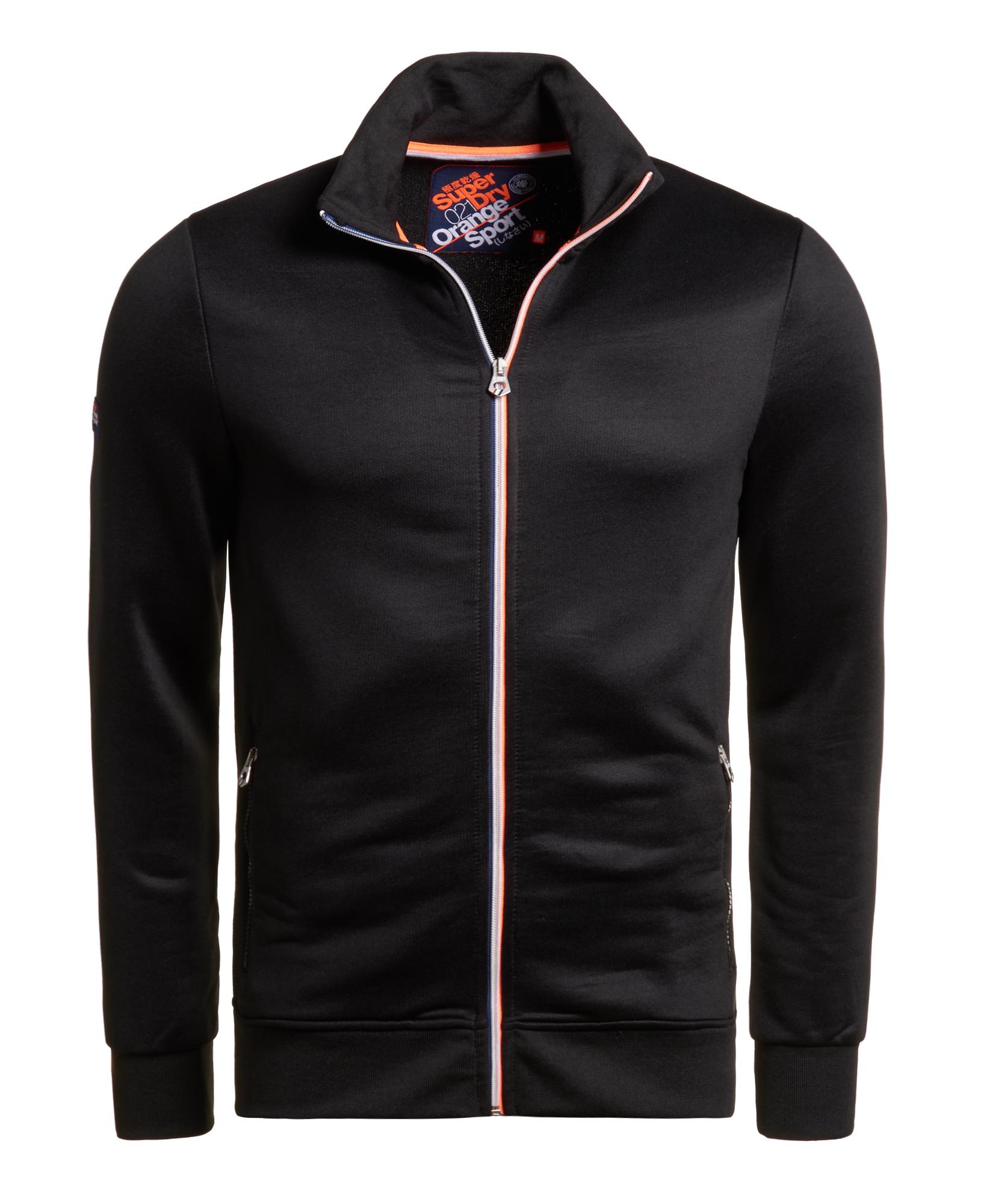 veste survetement adidas noir orange tag