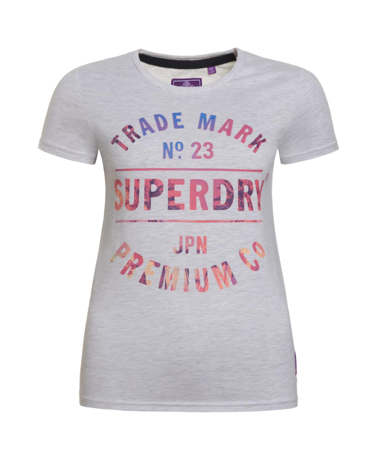 uusi halpa julkaisutiedot halpaa alennusta Details about New Womens Superdry Trademark No 23 Tee Ice Marl