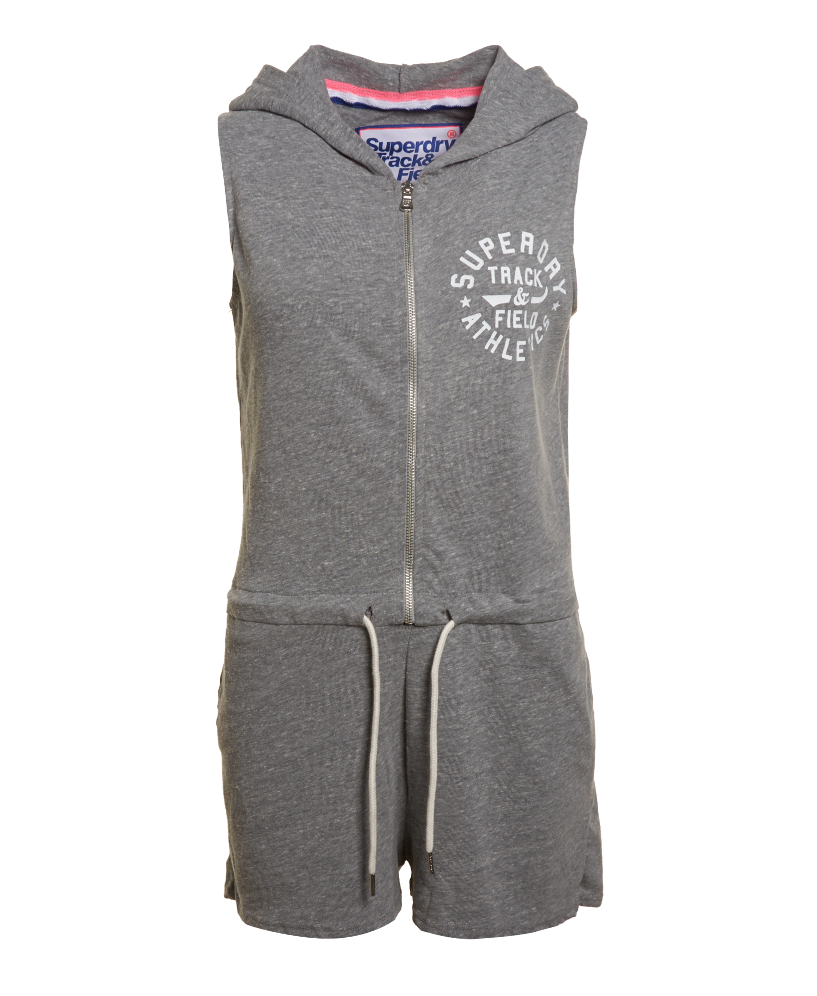 Sentinel New Womens Superdry Factory Second Track And Field Hooded Playsuit  Grey Marl b1587387d
