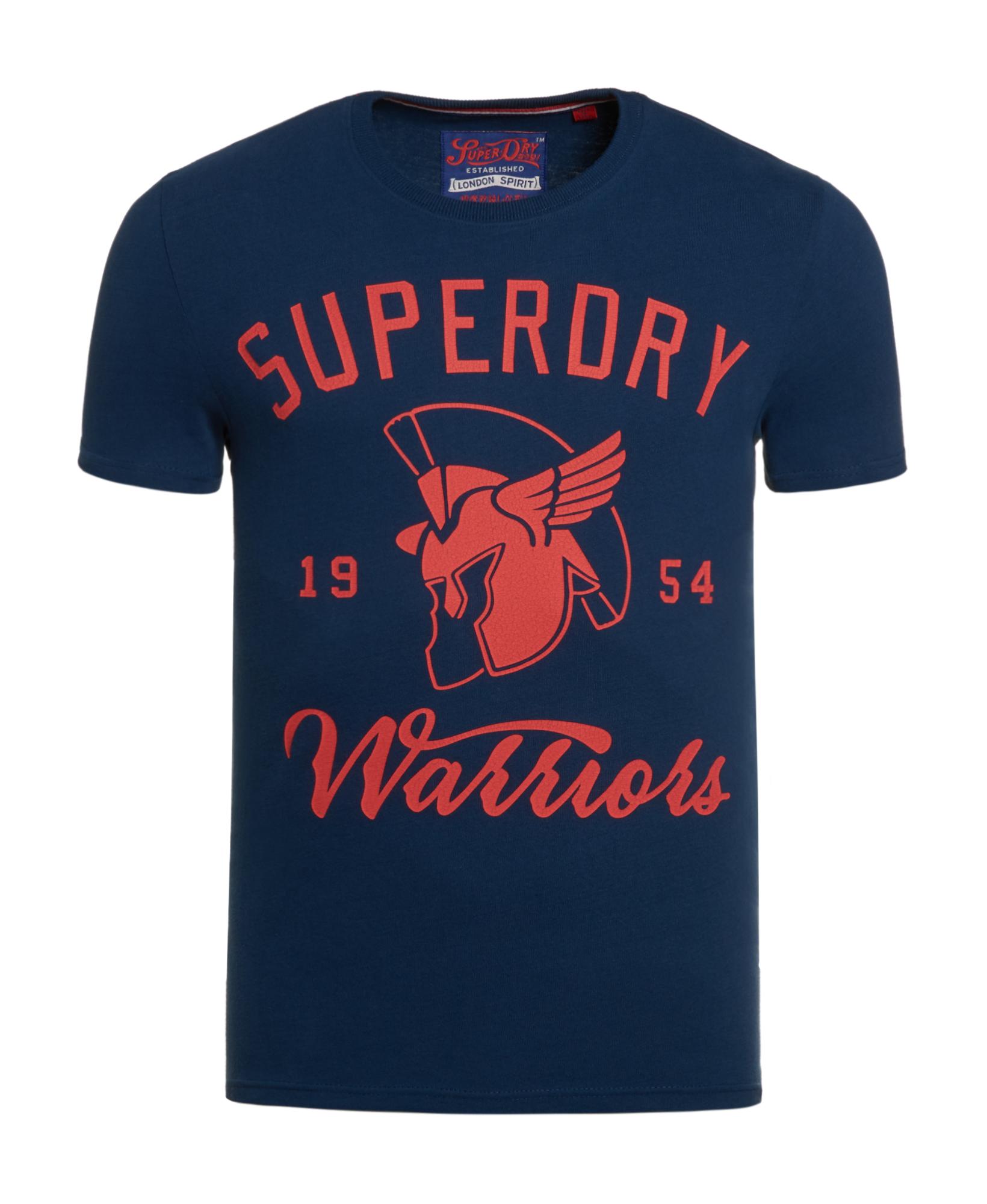 neues herren superdry gladiators t shirt boston blau ebay. Black Bedroom Furniture Sets. Home Design Ideas
