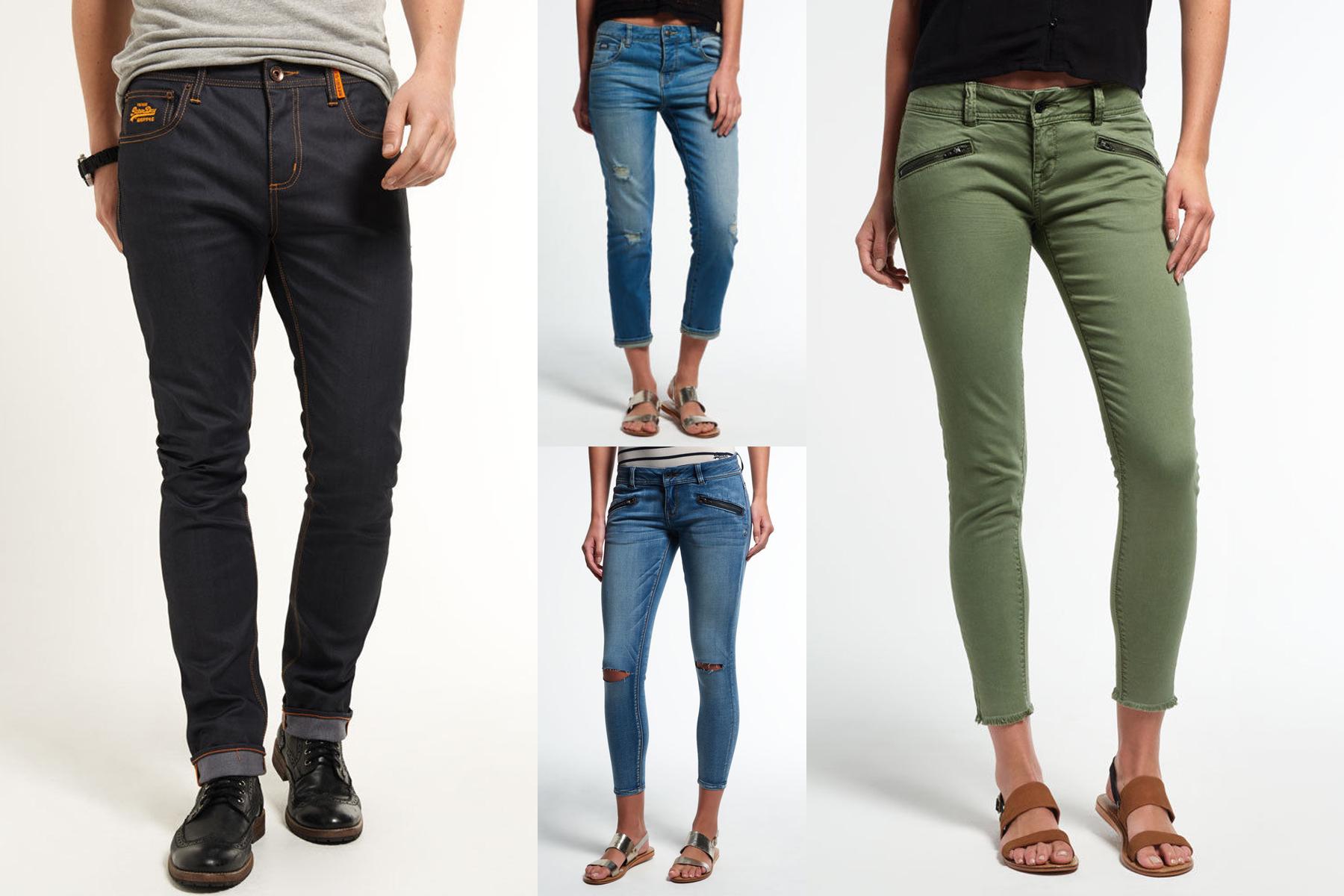 fa66f5a00a7404 Sentinel Neue Superdry für Männer und Frauen Jeans Versch. Modelle und  Farben 2301