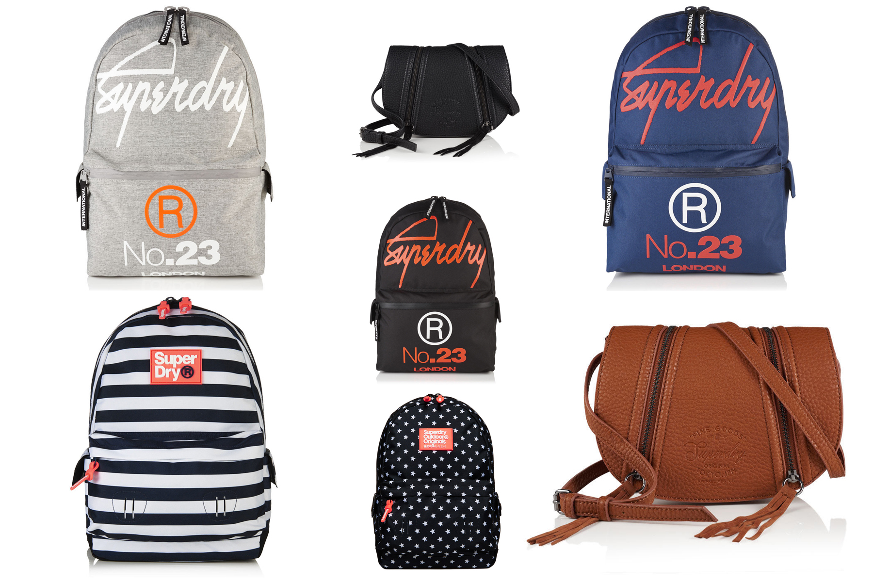 Sentinel New Superdry Bags Selection Various Styles Colours 2304
