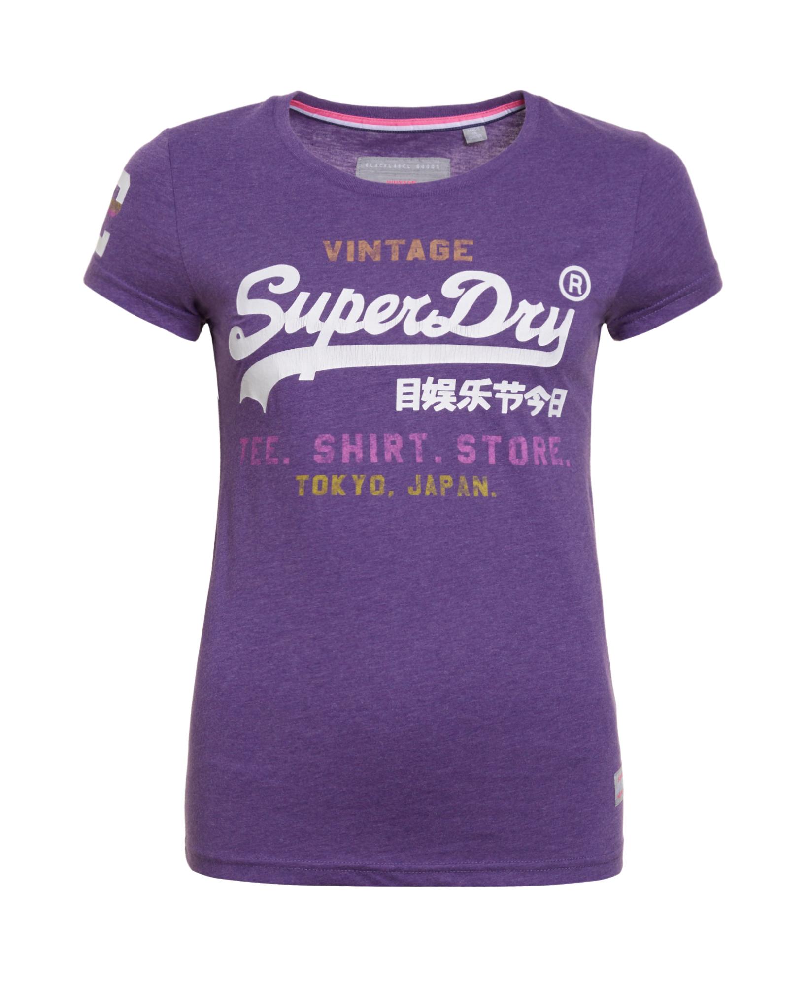separation shoes 11c56 2be2b Details zu Neues Damen Superdry Shirt Shop T-shirt Polo Lila Meliert