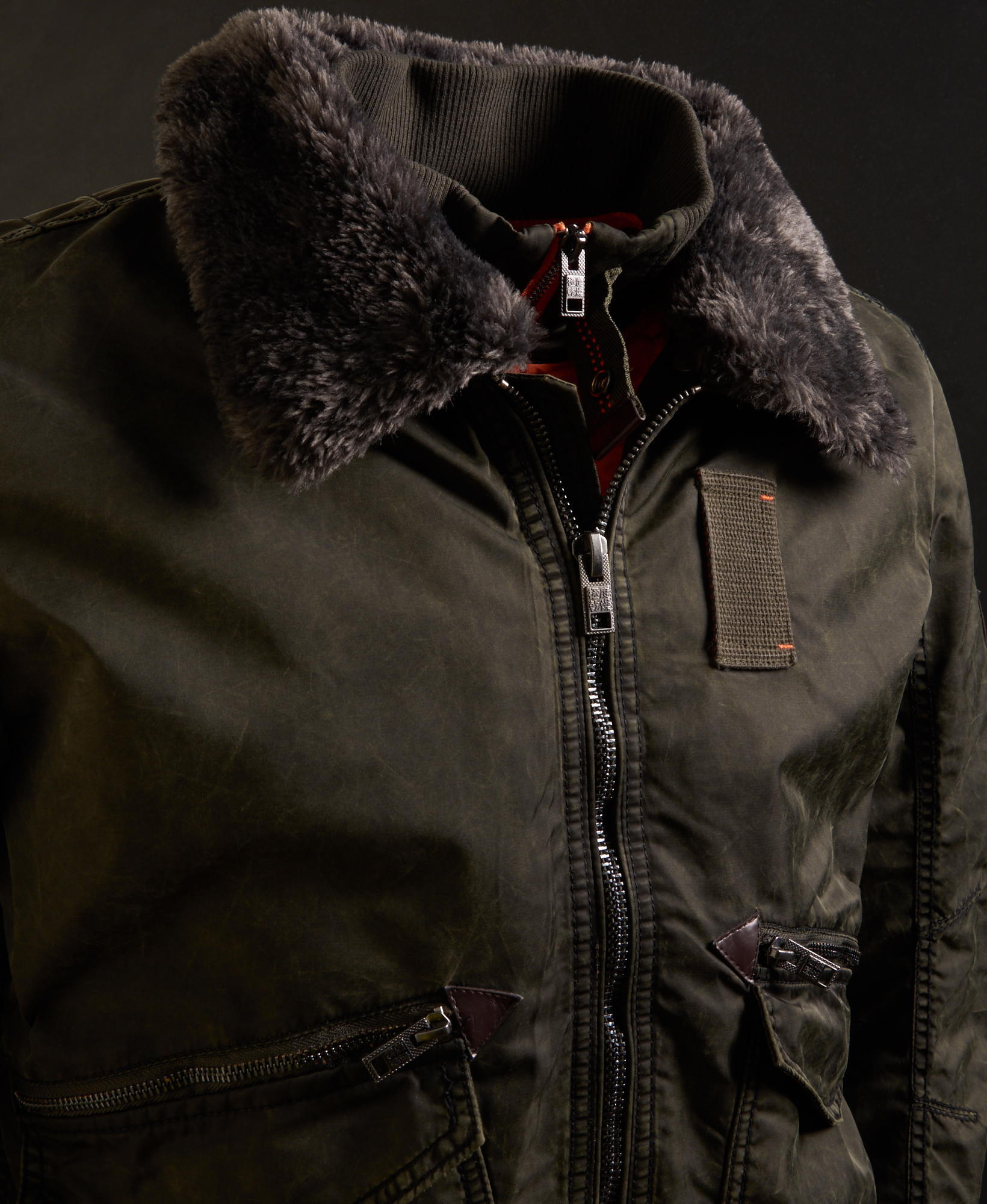 1b2cdaed1 Details about New Mens Superdry Winter Hercules Bomber Jacket Khaki