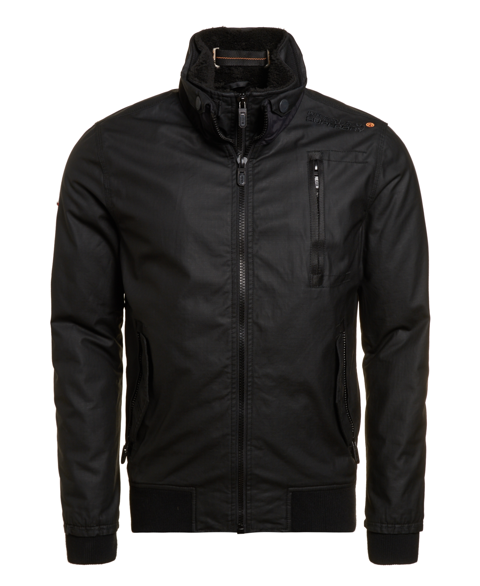 640086042 Details about New Mens Superdry Unique Sample Moody Ripstop Bomber Jacket  Size Small Black