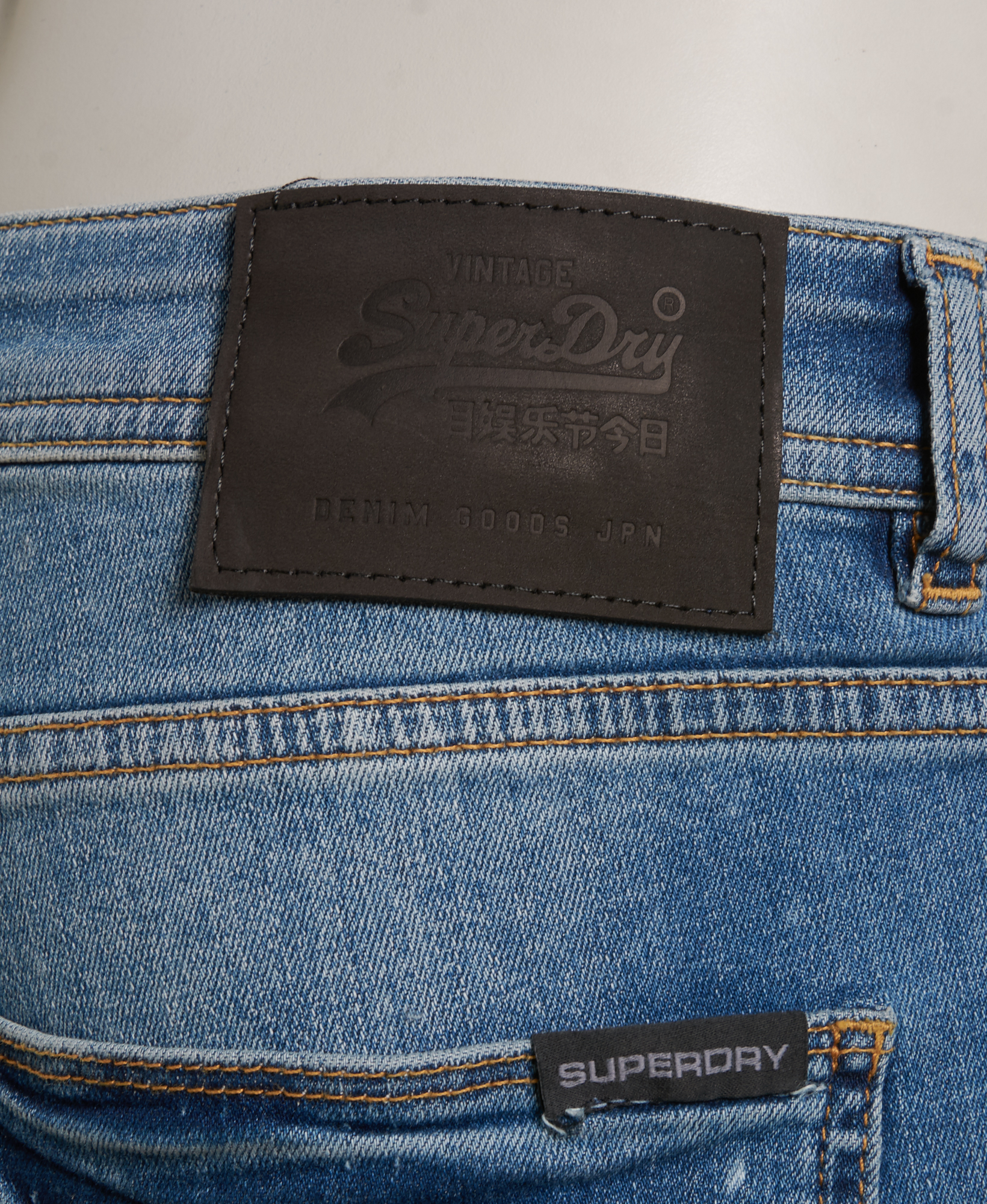 New Mens Superdry Factory Second Skinny Jeans Quays Blue Ripped