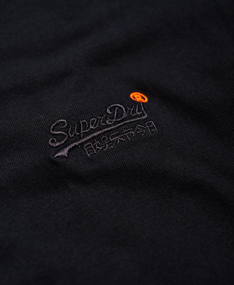 Neues-Herren-Superdry-Orange-Label-Vintage-Embroidery-T-Shirt-Schwarz miniatura 15
