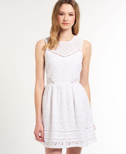 superdry kleid weiß