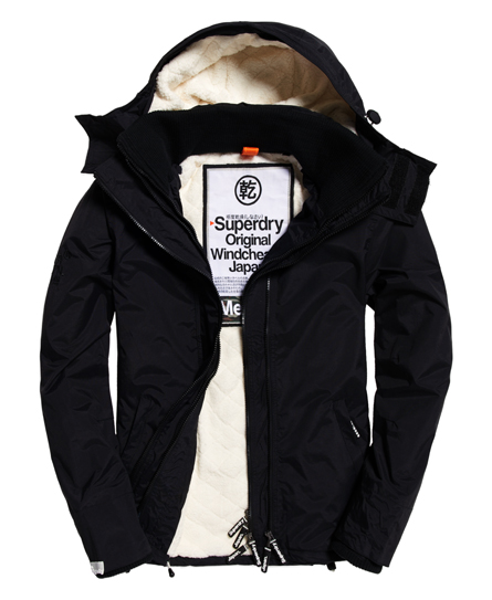 neue herren superdry sherpa windcheater jacke mit kapuze. Black Bedroom Furniture Sets. Home Design Ideas