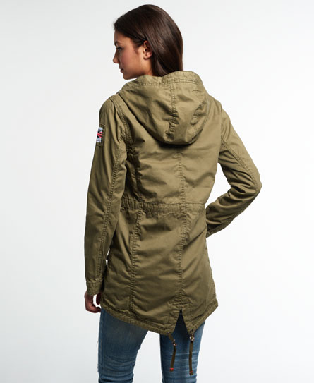 New Womens Superdry Rookie Military Parka Jacket Deepest Army | eBay