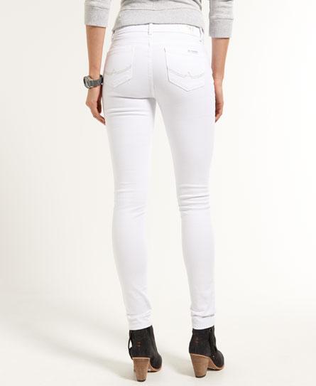 Sentinel New Womens Superdry Skinny Folkoric Jeans Gypsy Rose Optic