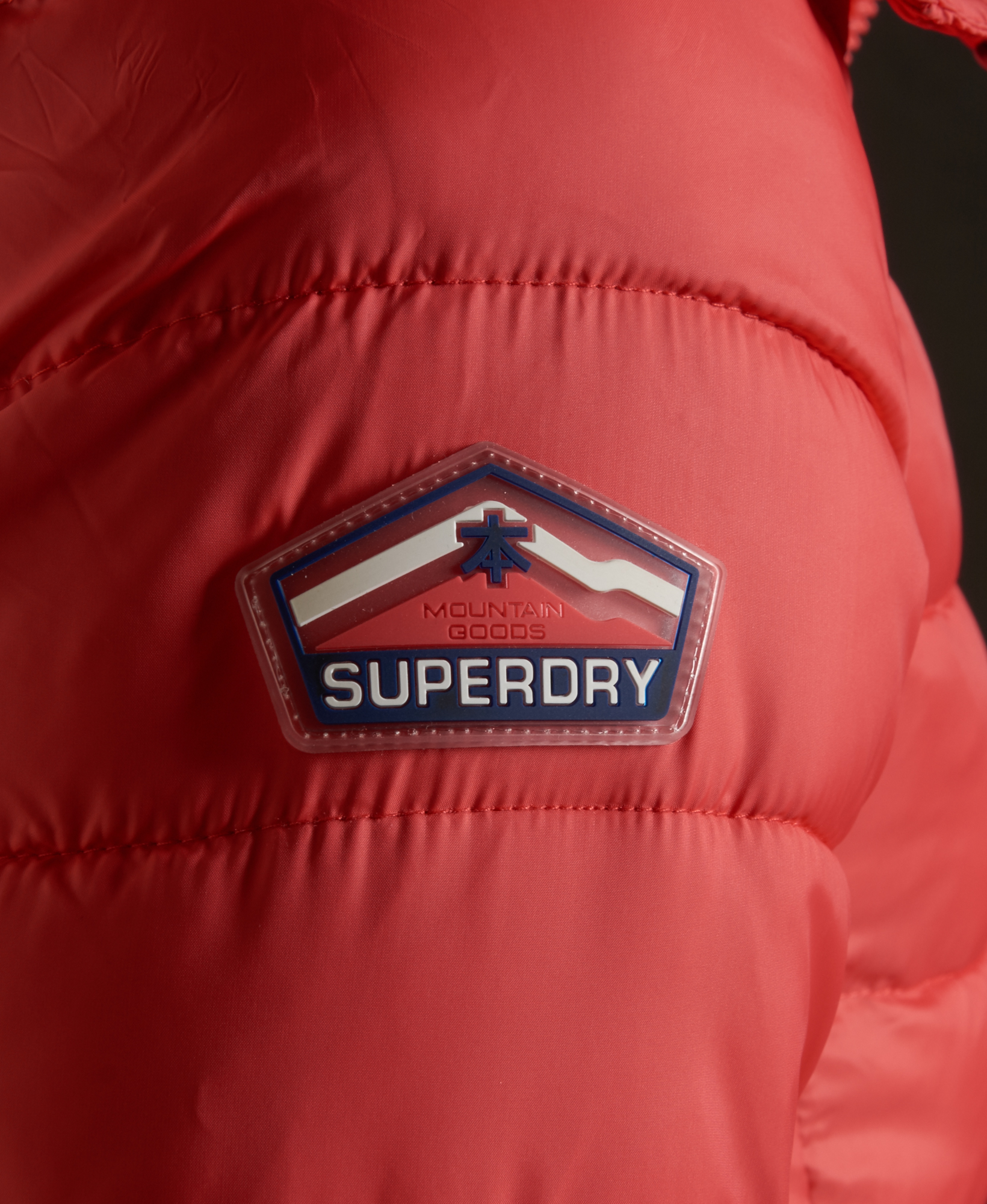 New Mens Superdry Fuji Double Zip Hooded Jacket Fire