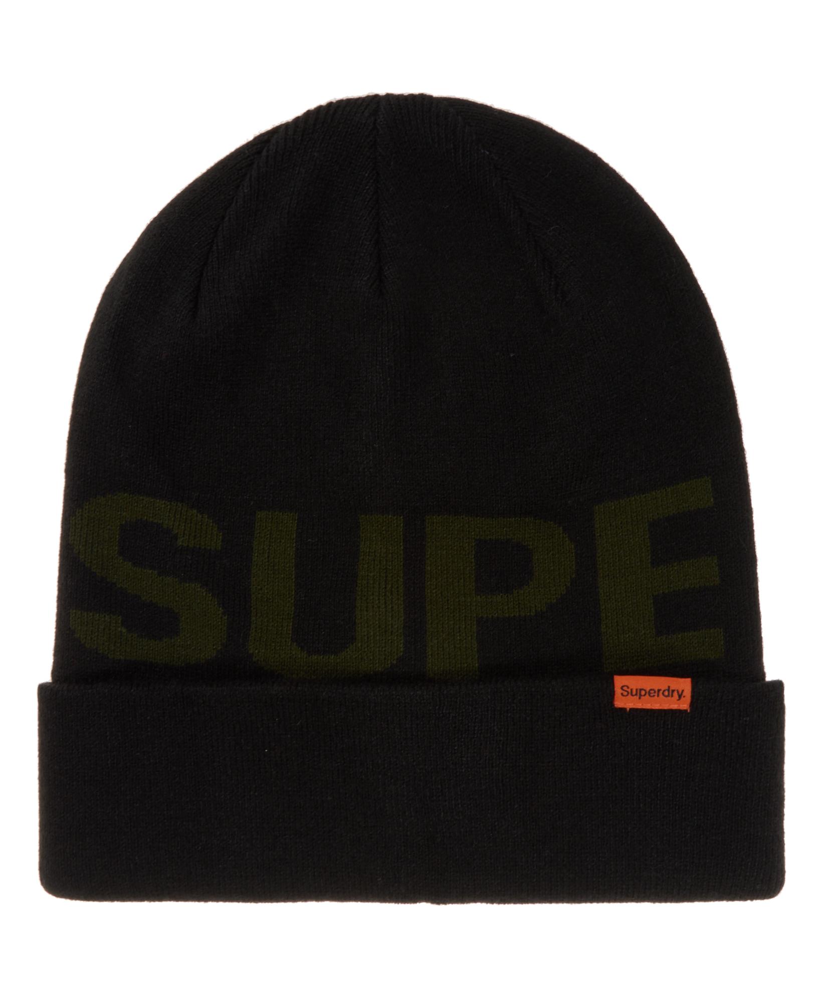 Sentinel New Mens Superdry Superdry Logo Beanie Black 87370e0482db