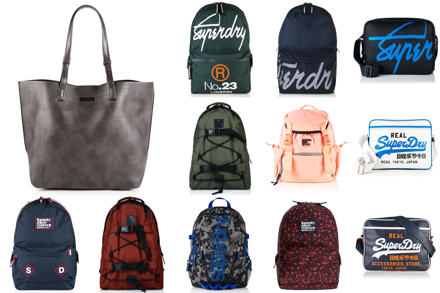 Sentinel New Superdry Bags Selection Various Styles Colours 2610
