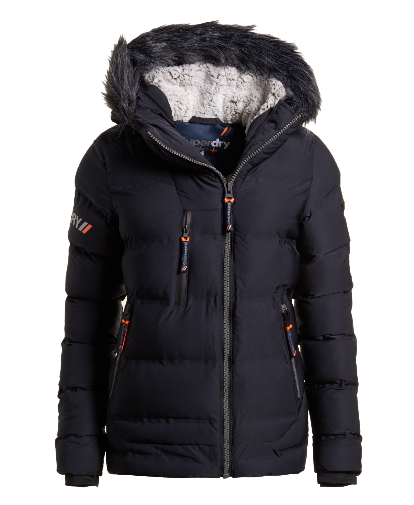 38a370e44 Details about New Womens Superdry Sdx Extreme Puffer Jacket Navy