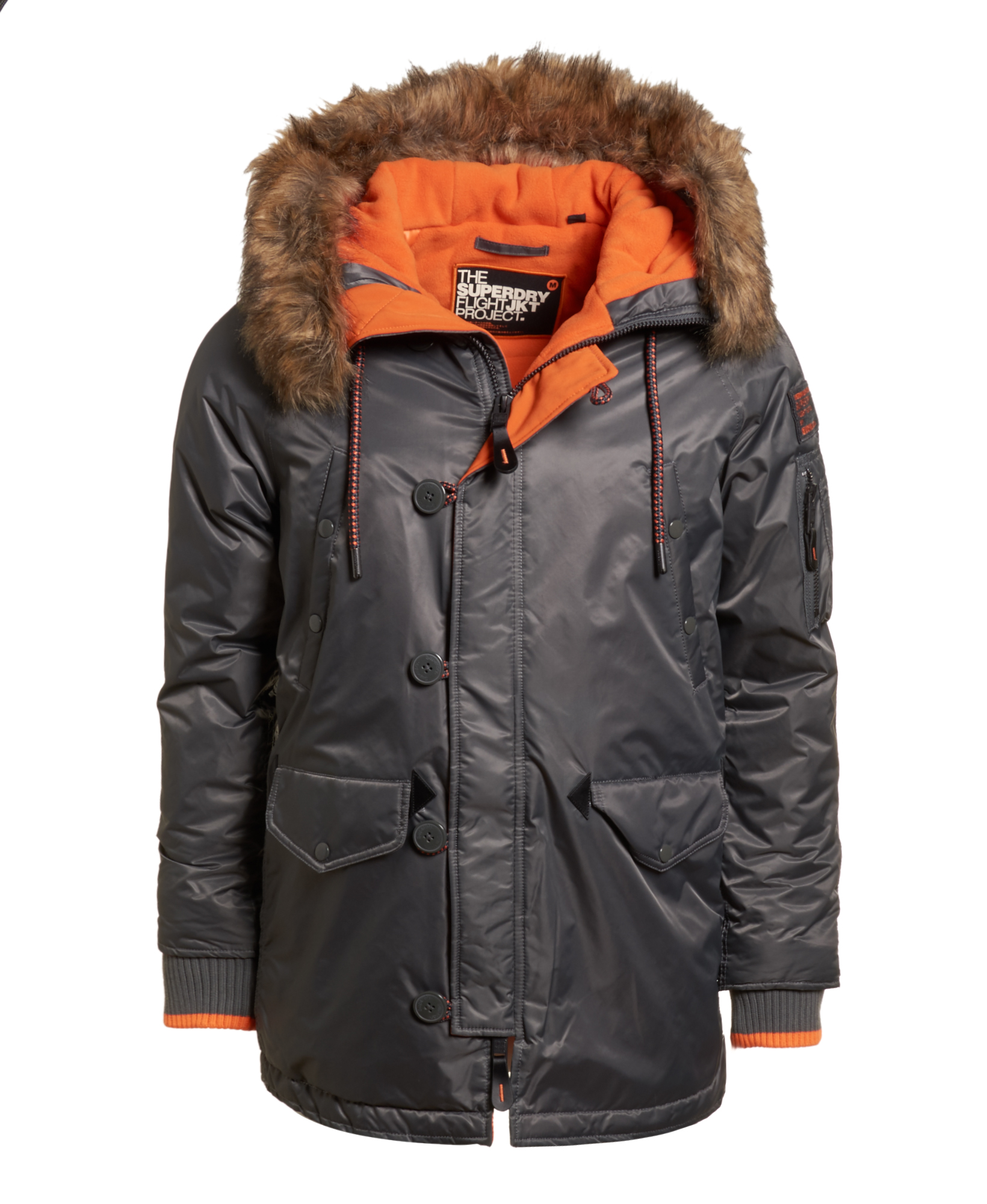 15b8f82f84f Details about New Mens Superdry Sd-3 Parka Coat Grey