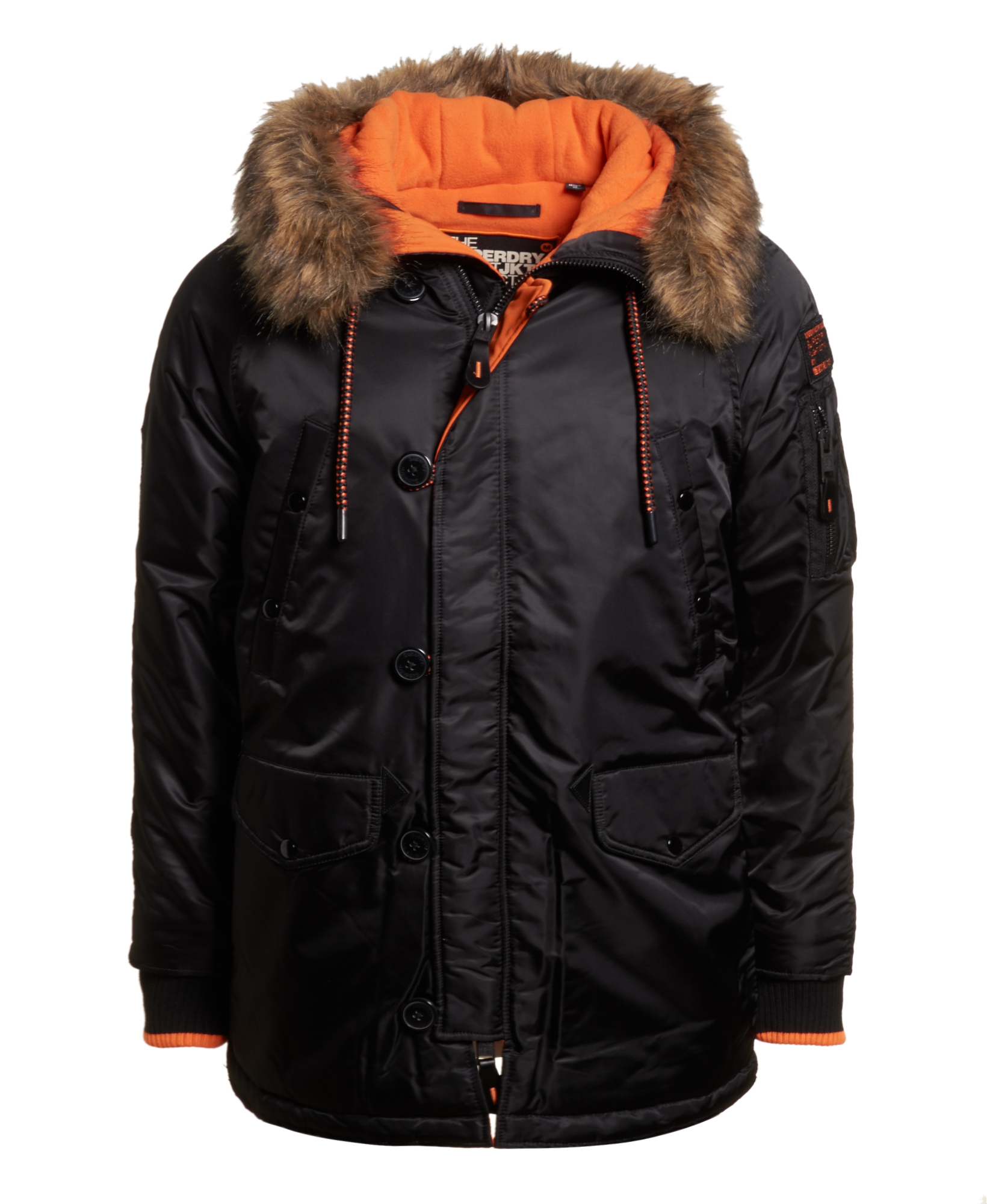 a5c876efaa2 Details about New Mens Superdry Sd-3 Parka Coat Black