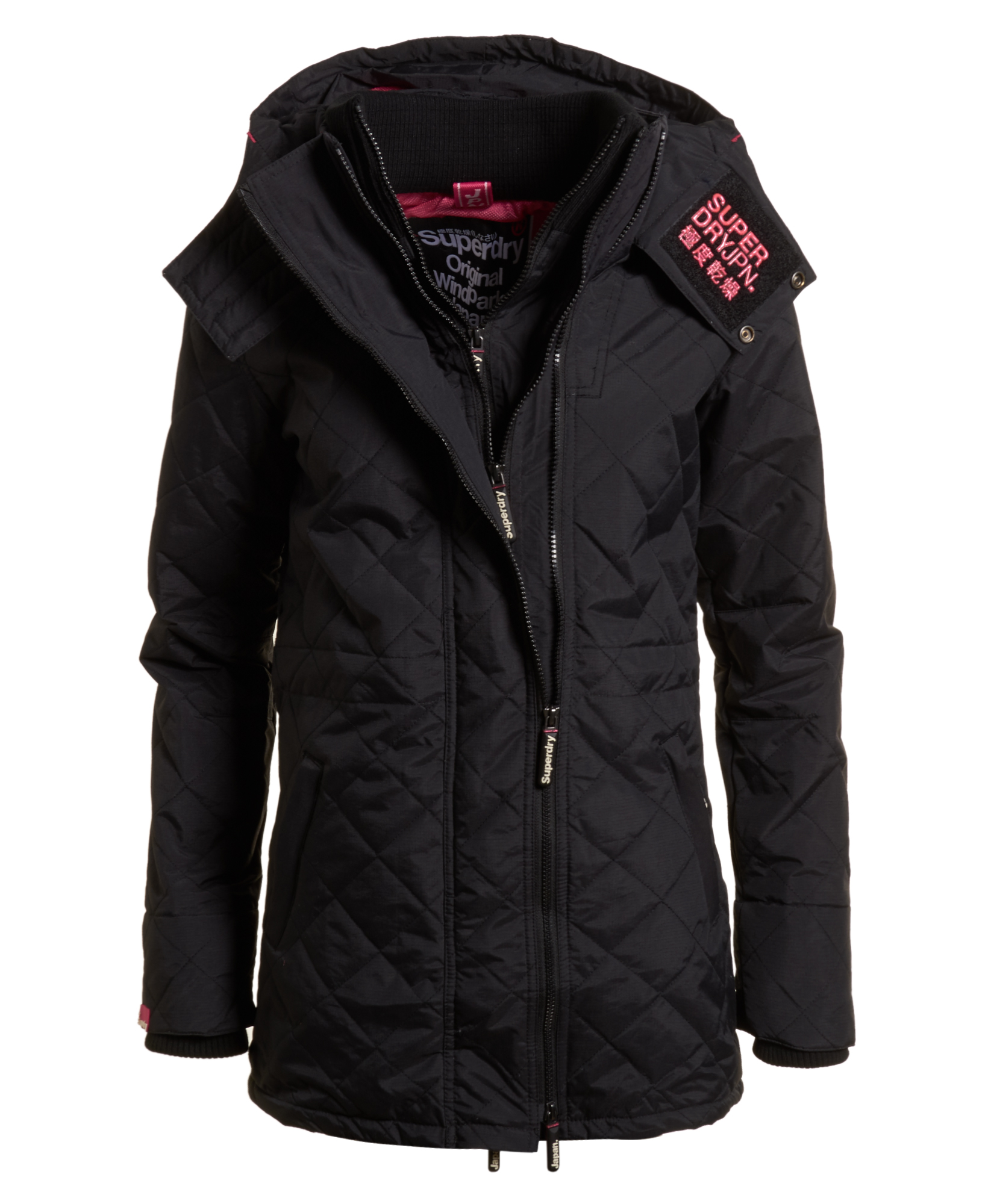 neue damen superdry technical sd wind parka mit steppung. Black Bedroom Furniture Sets. Home Design Ideas