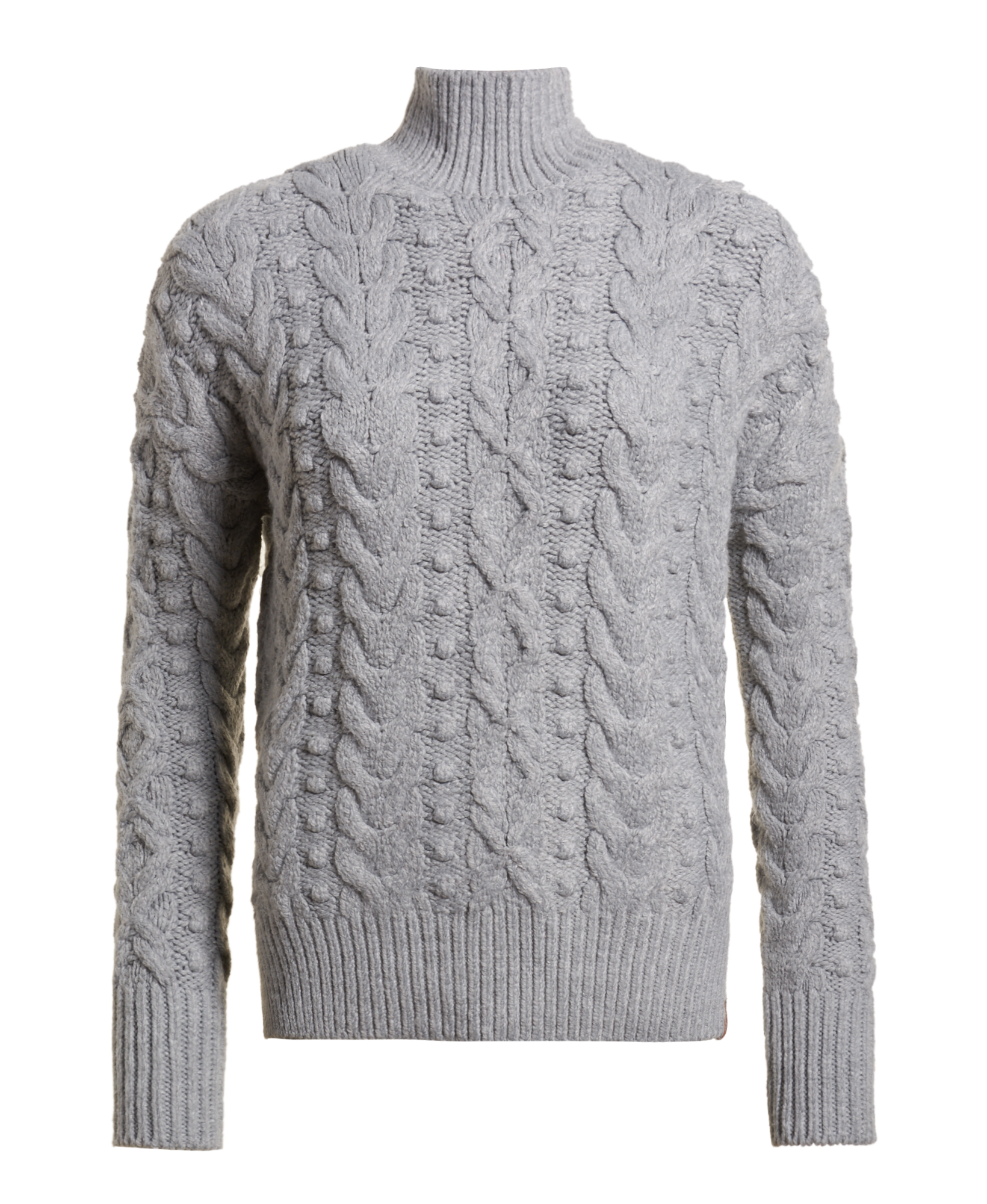 62716347133f Sentinel New Womens Superdry Kiki Cable Knit Jumper Pale Grey