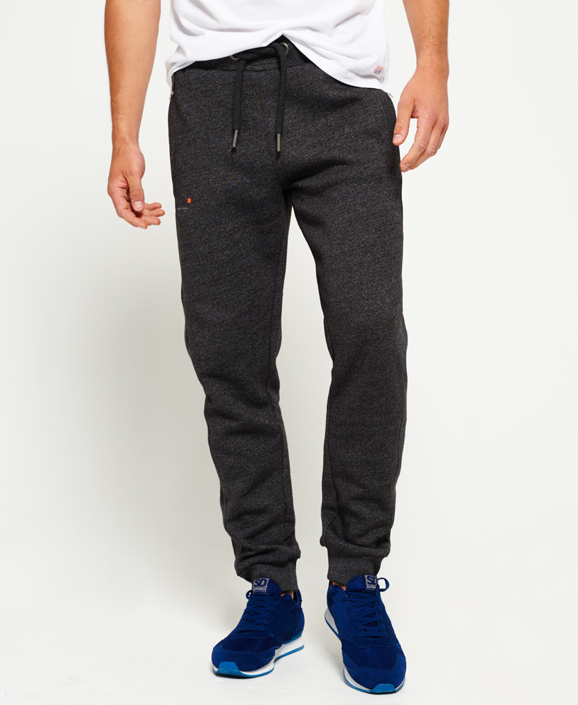 big sale select for newest casual shoes Details about New Mens Superdry Orange Label Moody Slim Joggers Low Light  Black Grit