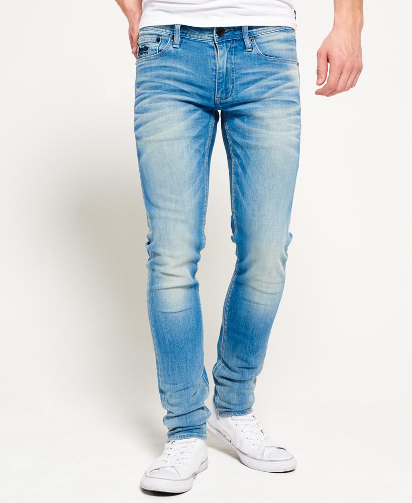 neue herren superdry skinny jeans retro blau ebay. Black Bedroom Furniture Sets. Home Design Ideas