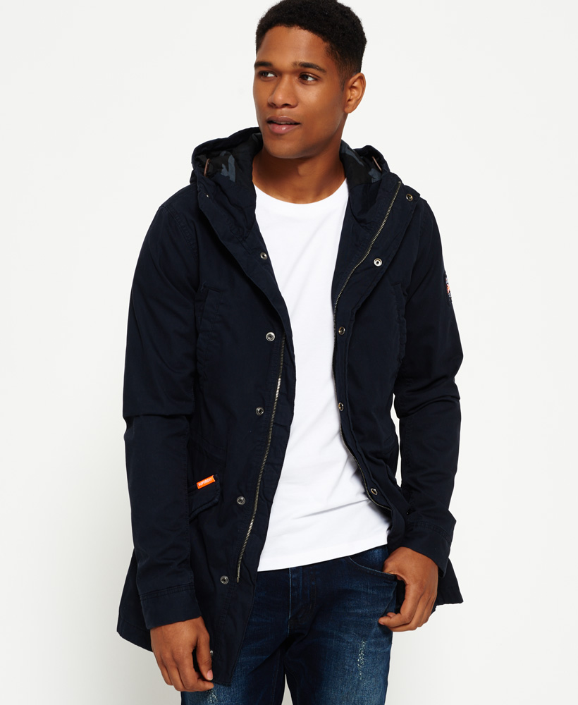 Superdry: New Mens Superdry Classic Rookie Military Parka Coat