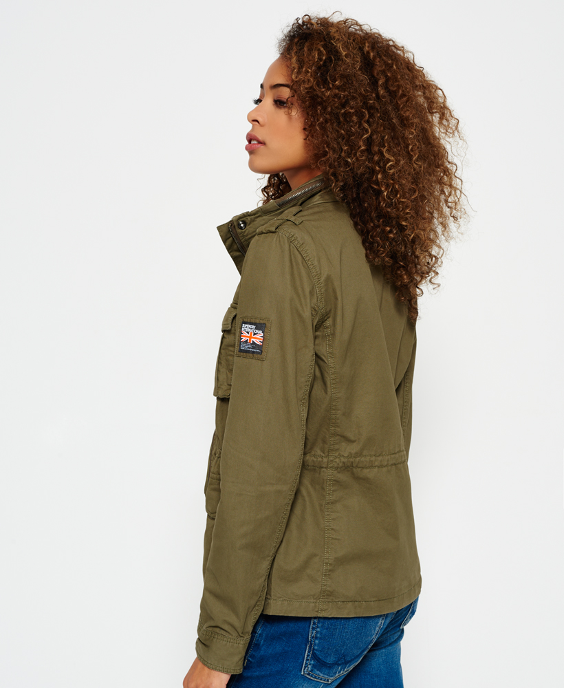 Femme Classique Olive Militaire Rookie Pour Veste Superdry Vintage q1p4yxwXcH
