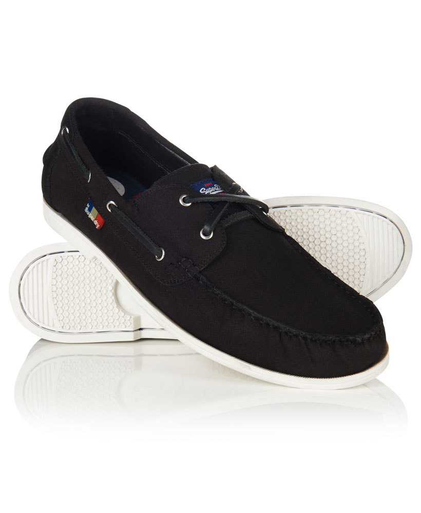 Sentinel New Mens Superdry Mainsail Boat Shoes Black