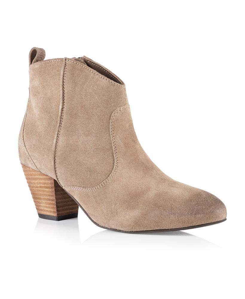 huge discount 29211 900d9 Details zu Neue Damen Superdry Dallas Ankle Boots Taupe