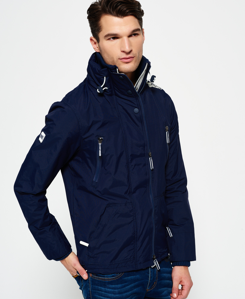 Superdry: New Mens Superdry Wind Attacker Jacket Nautical Navy
