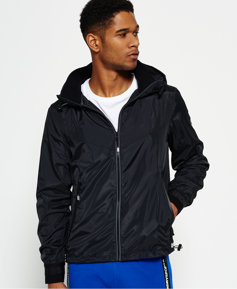 New Mens Superdry Sport Stormbreaker Jacket Black | eBay