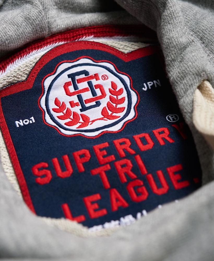 94277cdfcaf730 Sentinel Neues Damen Superdry Tri League Slouch Hoodie Kleid Skyscraper  Grau Meliert