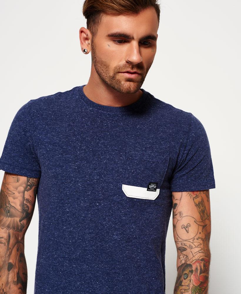 7f710286 Sentinel New Mens Superdry Surplus Goods Pocket T-shirt Brooklyn Blue Grit