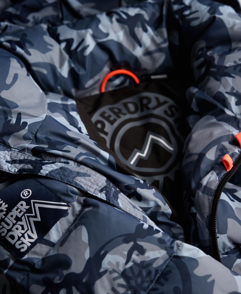 9ecf09fb9ea2b Sentinel New Mens Superdry Ski Command Utility Hooded Jacket Black Ice Camo