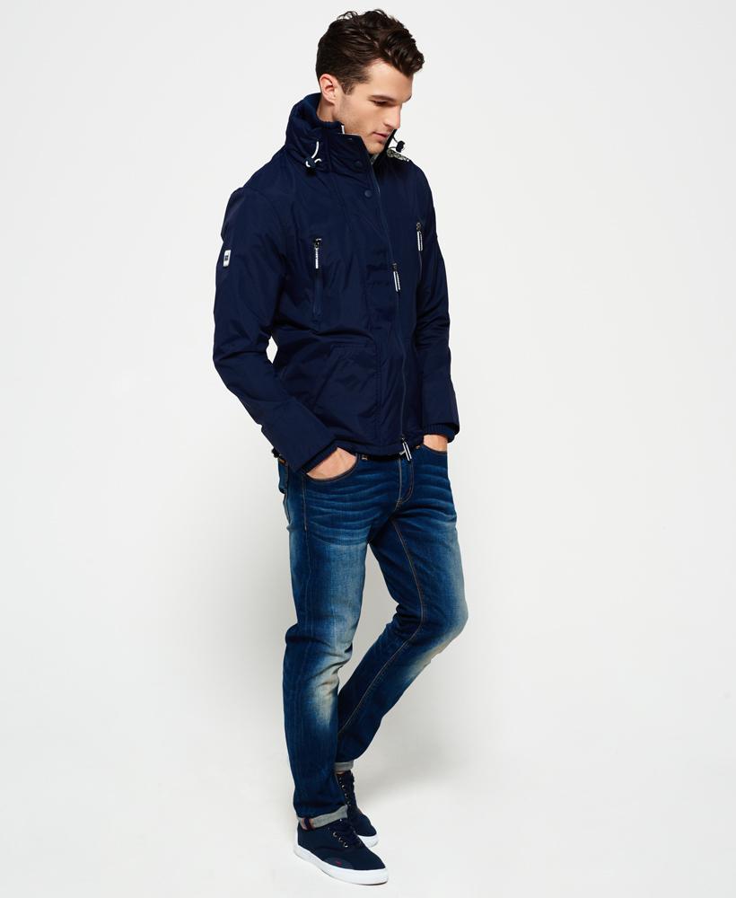 new mens superdry wind attacker jacket nautical navy ebay. Black Bedroom Furniture Sets. Home Design Ideas
