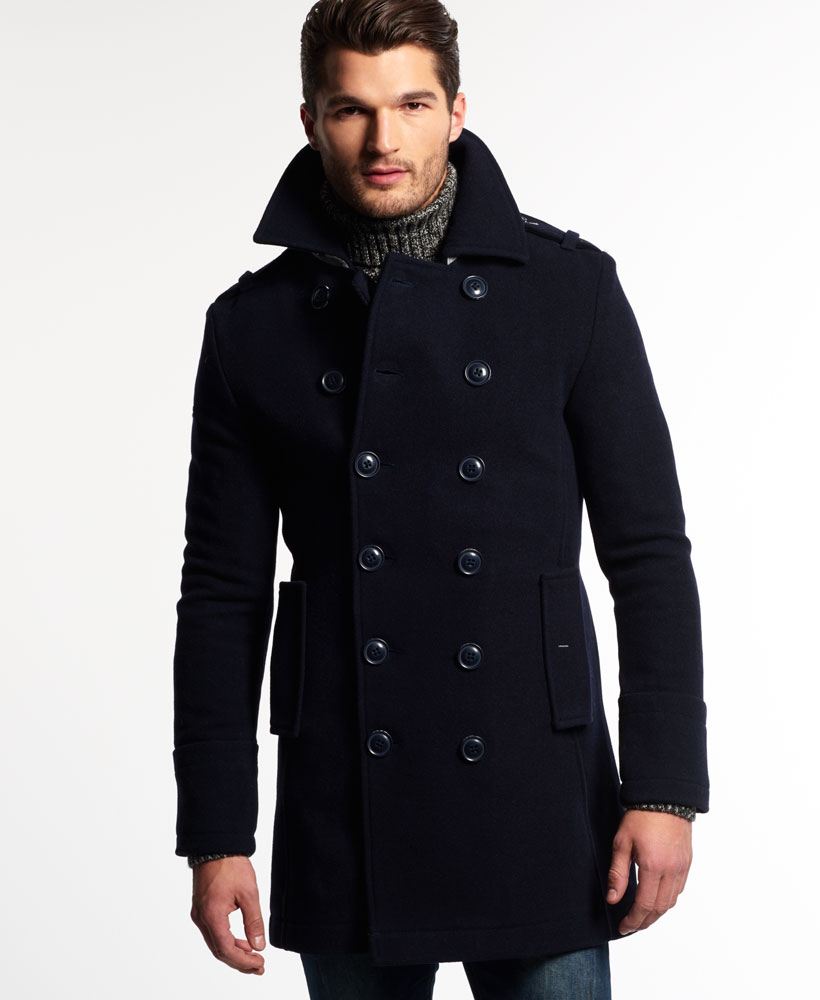 new mens superdry bridge coat navy ebay. Black Bedroom Furniture Sets. Home Design Ideas