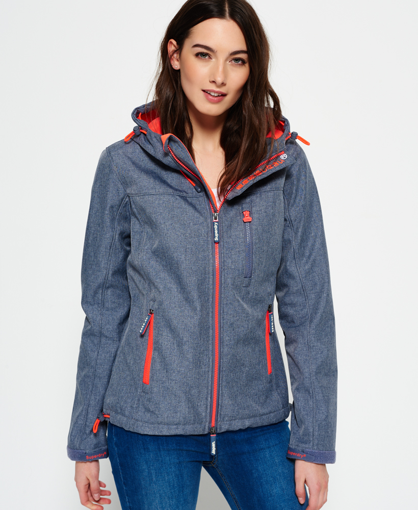 80fe921ae3f9 Details about New Womens Superdry Hooded SD-Windtrekker Jacket Storm Marl