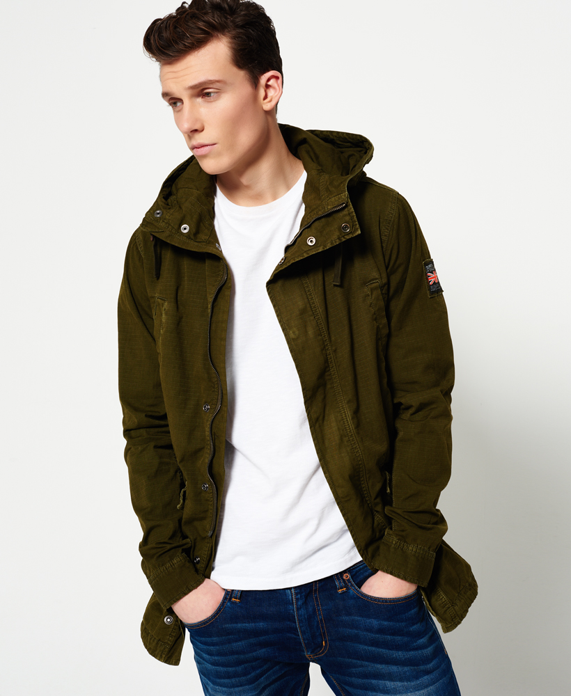 717b11b2f64 Details about New Mens Superdry Rookie Fishtail Parka Jacket Burnished Olive