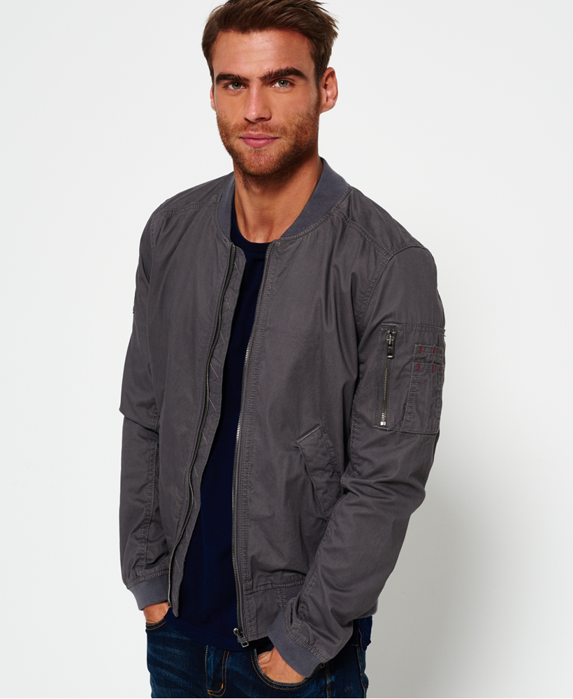 daaefd0f979 Sentinel New Mens Superdry Rookie Duty Bomber Jacket Bullet Grey