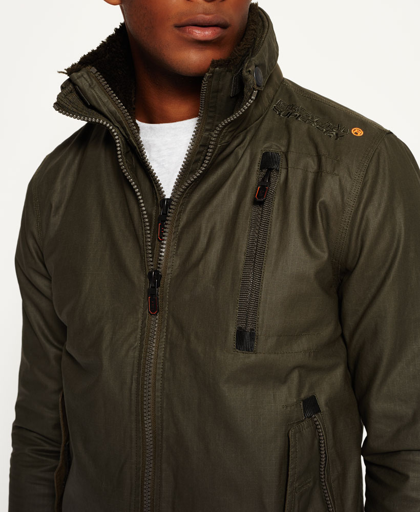 589e1cb3b Details about New Mens Superdry Moody Ripstop Bomber Jacket Darkest Army