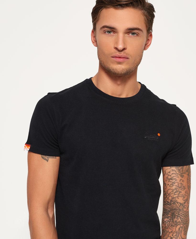 Neues-Herren-Superdry-Orange-Label-Vintage-Embroidery-T-Shirt-Schwarz miniatura 18
