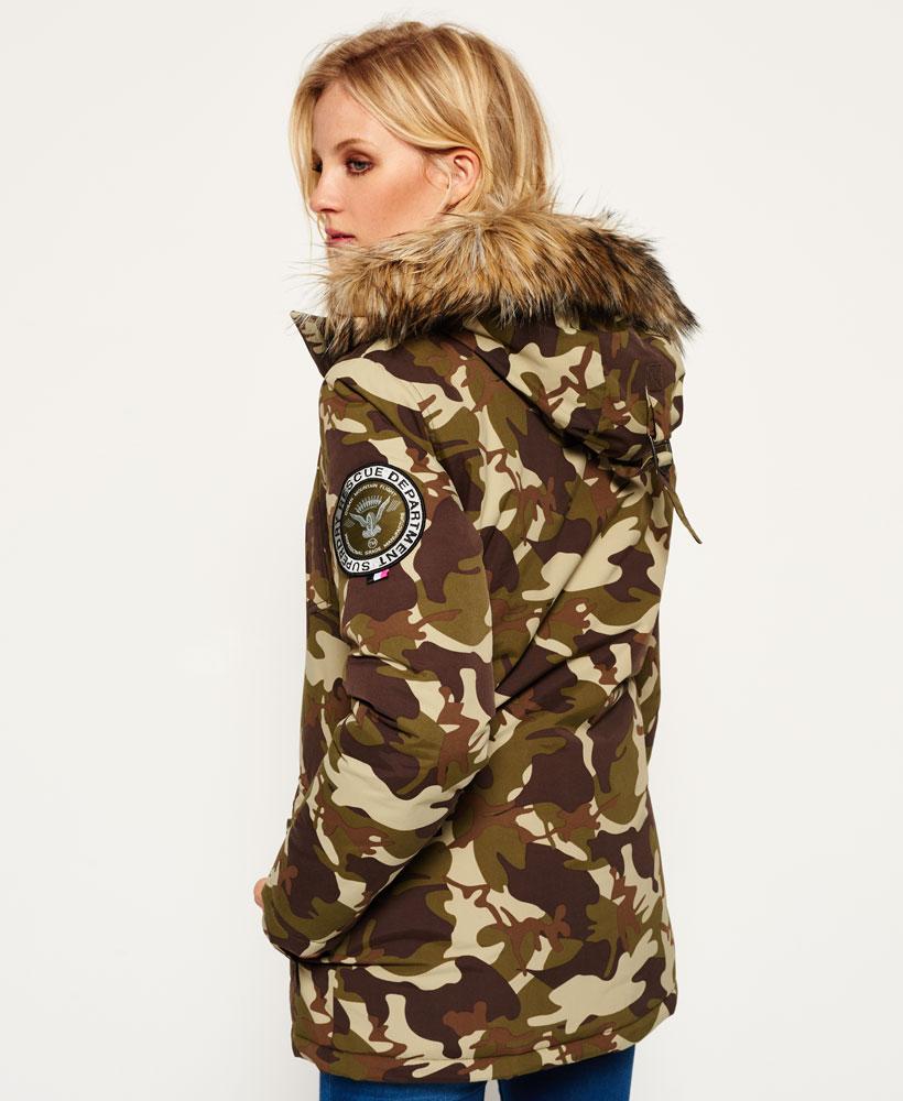 68217b18d37f3 Sentinel New Womens Superdry Everest Parka Jacket Camo