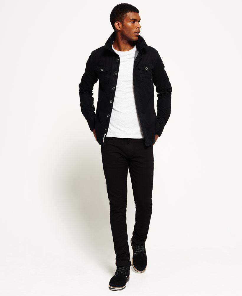 new mens superdry international shirt jacket black ebay. Black Bedroom Furniture Sets. Home Design Ideas