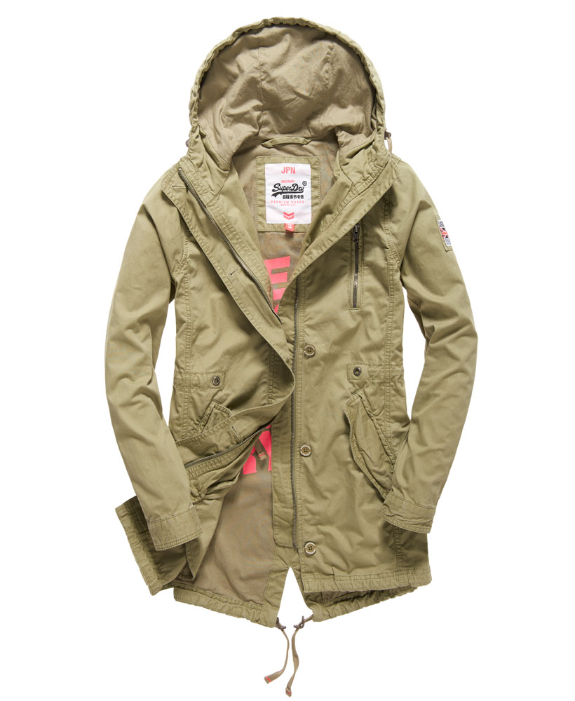 New Womens Superdry Rookie Military Parka Jacket Dull Olive | eBay