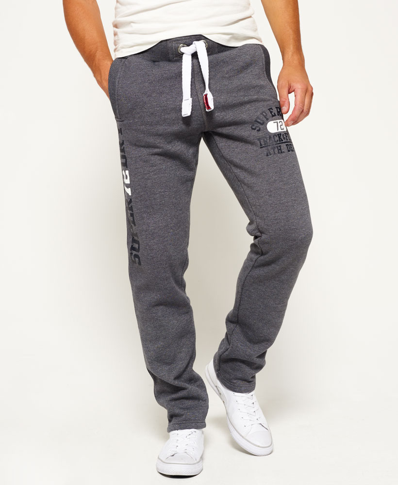 New Mens Superdry Trackster Non Cuffed Joggers Slate Grey