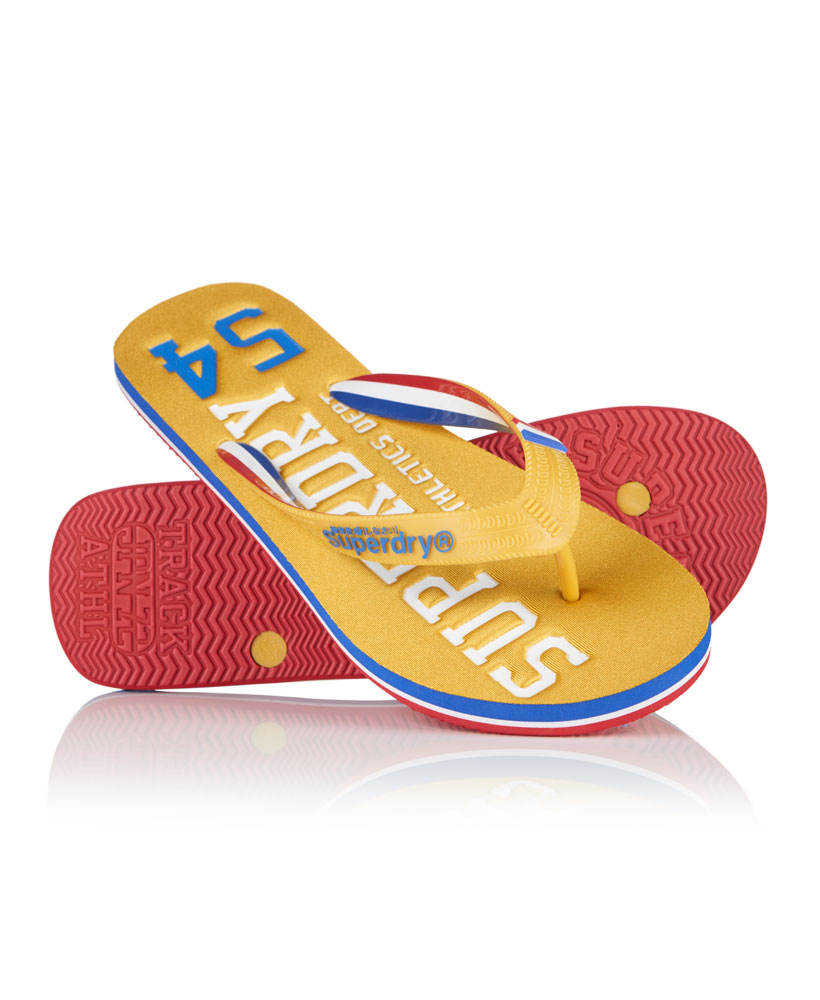 22f368a1264c Sentinel New Mens Superdry Track   Field Flipflop Track Gold Royal Ble
