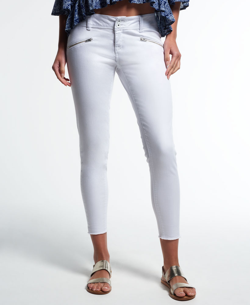 Superdry Womens Leila Super Skinny Crop Jeans Optic White