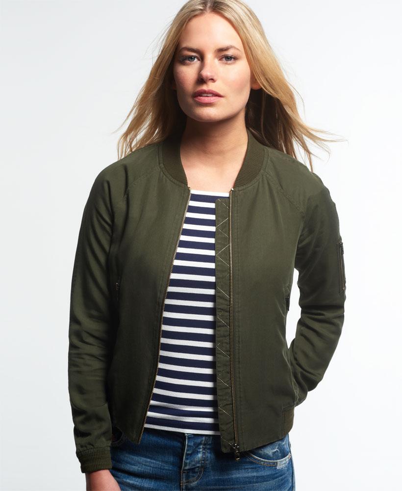 um 50 Prozent reduziert Großbritannien großhandel online Details zu Neue Damen Superdry Lillie Bomberjacke Khaki