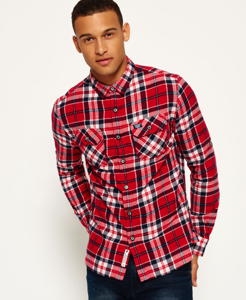 New Mens Superdry Refined Lumberjack Shirt Hot Rod Check ...